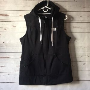 The North Face full zip hooded vest EUC